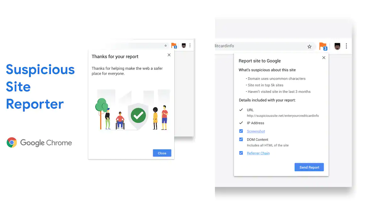 Google releases new Extension which allows users to report Suspicious Sites